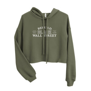Rebuild Black Wall Street Cropped Hoodie (Black)